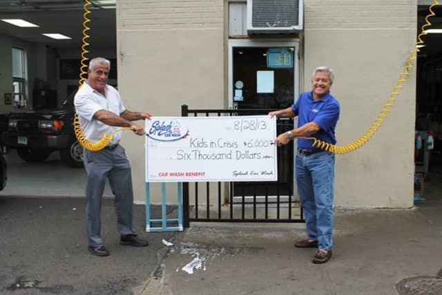 Splash Car Wash, with locations in Greenwich and Cos Cob, donated $6,000 to Kids in Crisis recently.