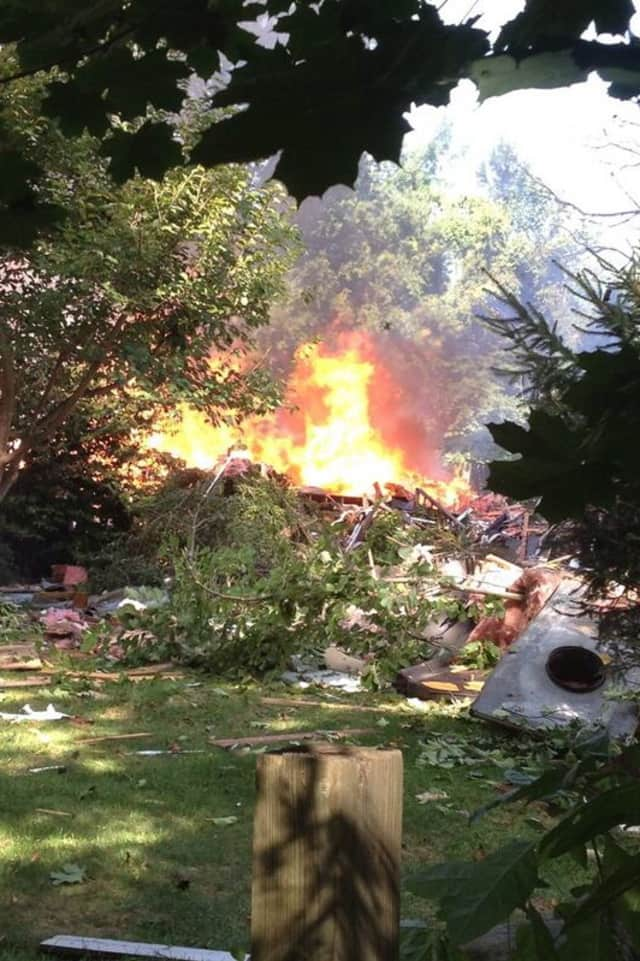 A North Stamford house is in ruins after an apparent explosion.