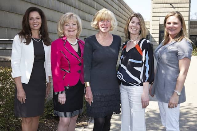 2013 Spirit of Greenwich Awards Co-Chairs (from left) Giovanna Miller, Pamela Lewanda, Mary Ann Henry, Maureen Vitanza and Rachel McAree