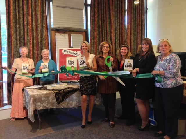 Margaret Courtney, Dee Strilowich, author Lisa Jones, Marion Roth, Judy Wilson, Colleen Caranfa and Chris Nolan celebrated Jones' new book at the Ridgefield Library recently.