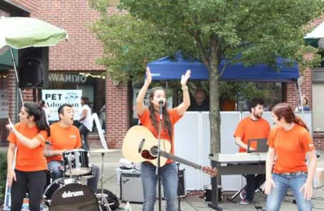 Kidville's Rockin' Railroad Band played for the Mount Kisco community at Sidewalk Sales Days over the weekend.