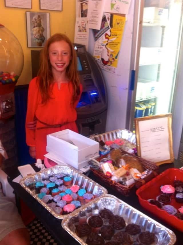 Elisabeth Eiff's bake sale was held at Longfords in Rye.