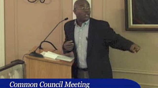 Common Council Meeting ends up in shouting match.