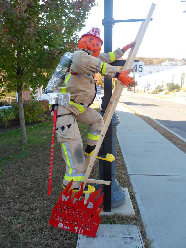 """Last year's """"Best Overall"""" winning scarecrow was submitted by the Wilton Fire Department."""