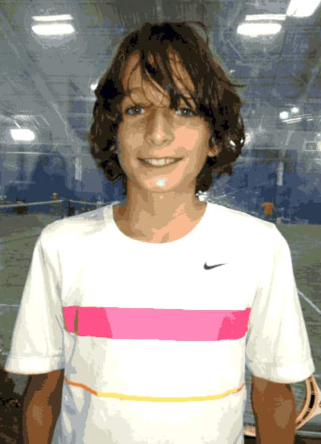 Connor Aylett, 11, of Larchmont, is quickly on his way to becoming a tennis star.