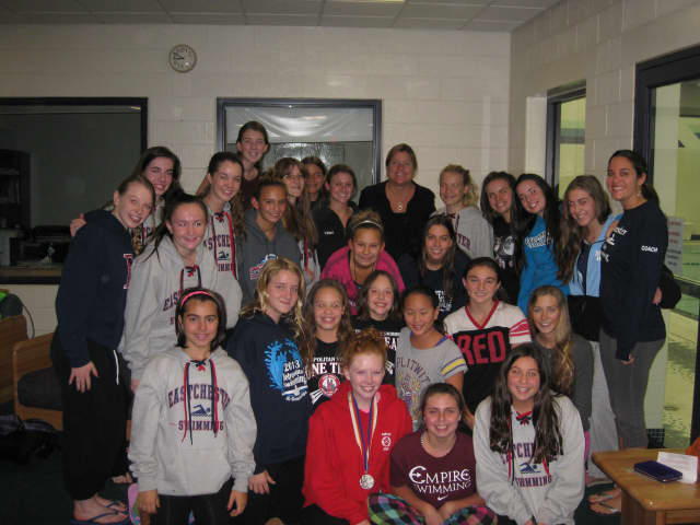Janel Jorgensen visited Eastchester High School.