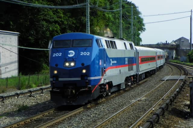 Diesel engines rule the Metro-North rails after a power outage along the New Haven Line in Mount Vernon, N.Y.