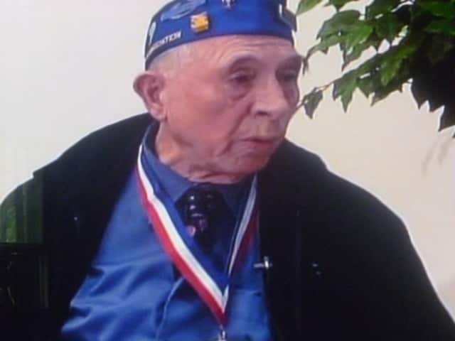 Greenburgh's Adam James Damascus, a U.S. Army Tech Sergeant who landed with the invasion forces on D-Day in Normandy, France is one of 100 veteran's interviewed last year for local television.