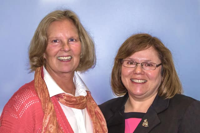 Sharon Wexler, right, project director on Pace's new grant with principal investigator Martha Greenberg.