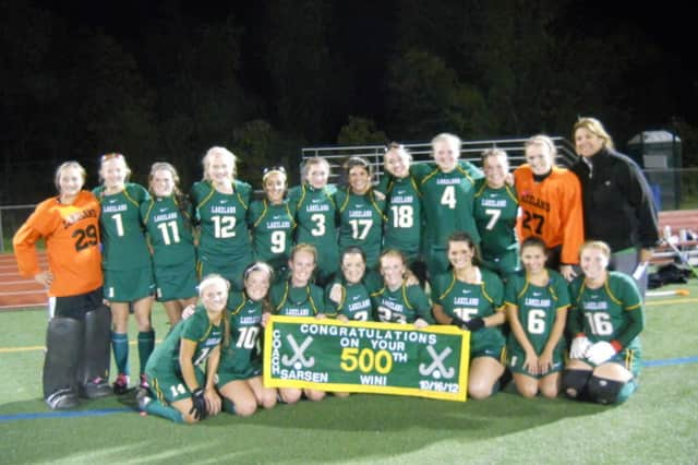 Lakeland field hockey head coach Sharon Sarsen celebrated her 500th win with the hornets last year.