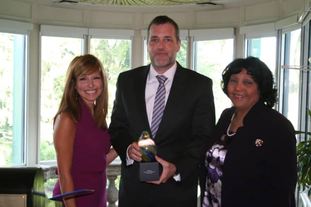 David Gentner, CEO and President of Wartburg Adult Care Community was on hand to accept the Golden Harvest Corporate Award at a breakfast in Tarrytown on Thursday, Oct. 3.