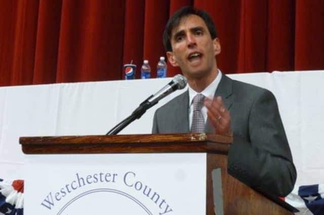 New Rochelle Mayor Noam Bramson recently gave a speech in Mount Pleasant promoting shared services.