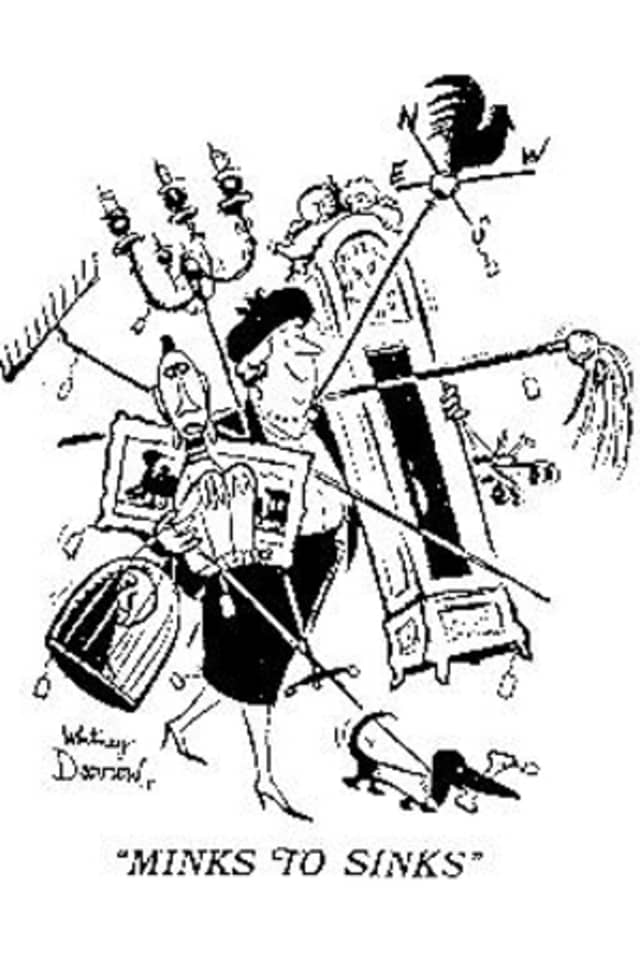 New Yorker cartoonist Whitney Darrow's 1945 Minks to Sinks drawing.