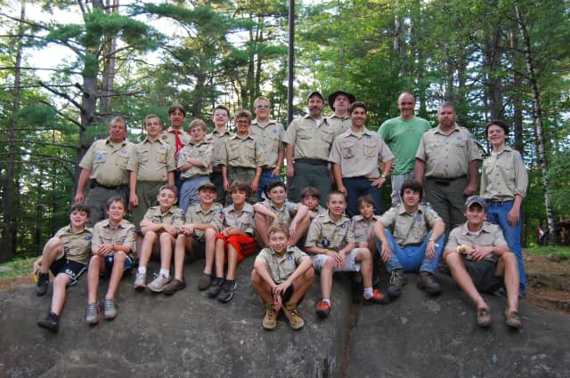 North Salem Boy Scouts recently completed more than 100 merit badges at camp over the summer, leaders said in a press release.