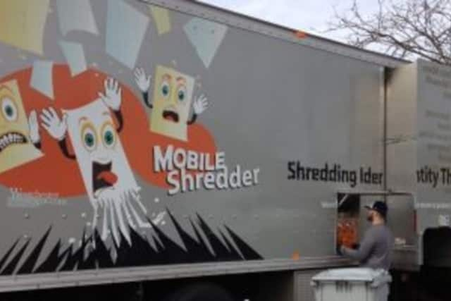 The Westchester County Mobile Shredder will be in Tuckahoe this weekend.