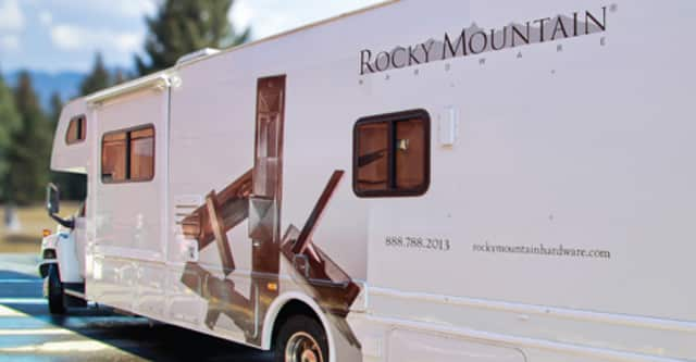 Klaff's of Scarsdale is hosting the Rocky Mountain Hardware mobile show on Saturday.