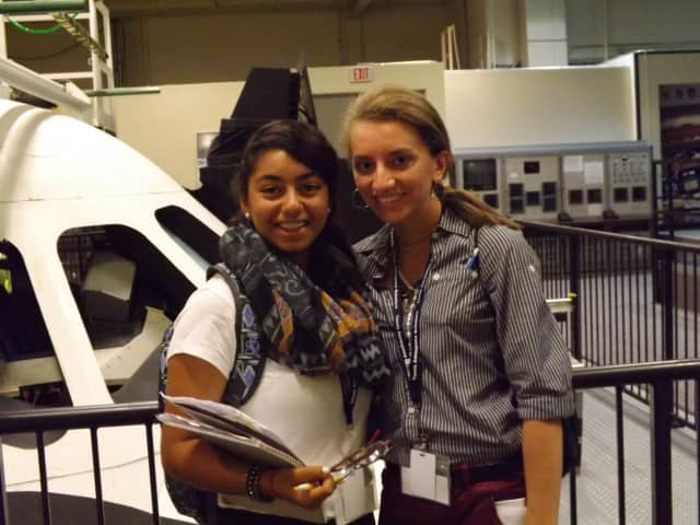 Woodlands High School student Carly Mannino with a co-traveler at NASA where she spent two weeks in a special program this summer.