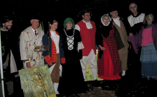 Haunted hike hosted by Ridgefield Discovery Center.