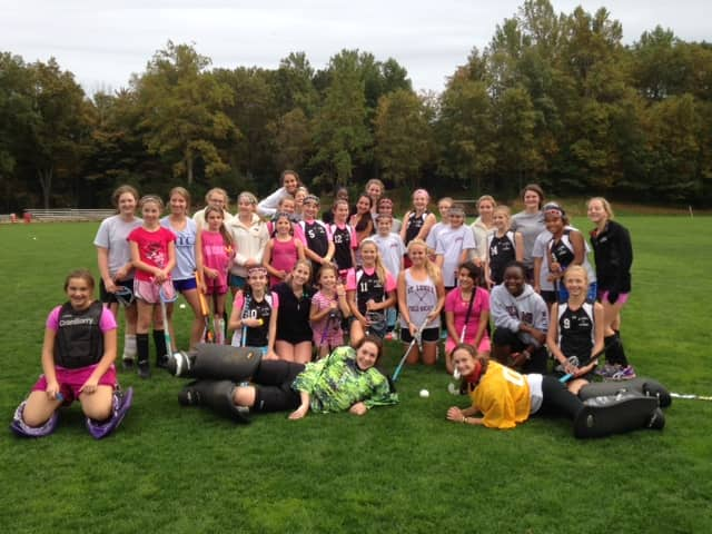 "New Canaan's St. Luke's School field hockey teams are participating in the ""Play4theCure"" fundraiser to support Breast Cancer Awareness."