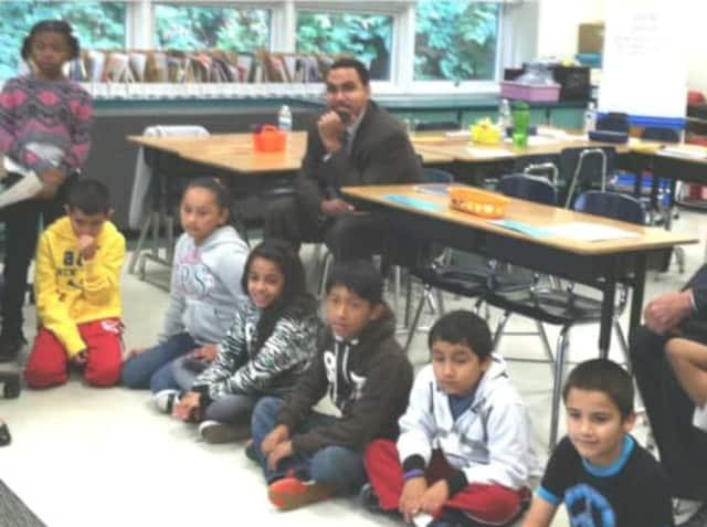 New York State Education Commissioner Dr. John B. King, Jr. visited John F. Kennedy Elementary school recently.