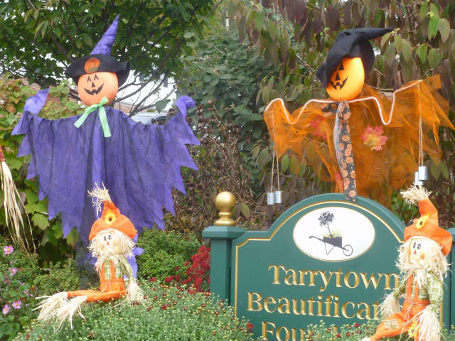The Tarrytown Beautification Foundation is housing goblins in time for Halloween in the villages.
