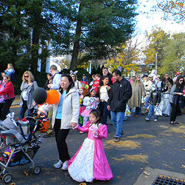 New Canaan residents enjoy the 2012 Halloween Parade. This year's is on Oct. 27