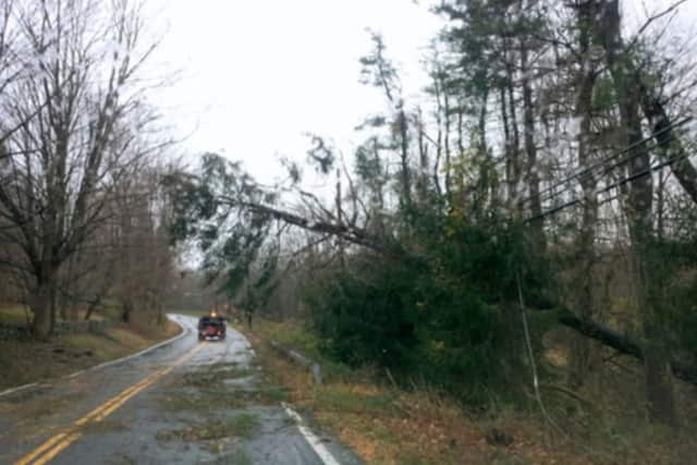 Thousands are without power in Fairfield County as a line of severe storms battered the area with heavy downpours, damaging winds and hail just as the evening commute began on Tuesday.