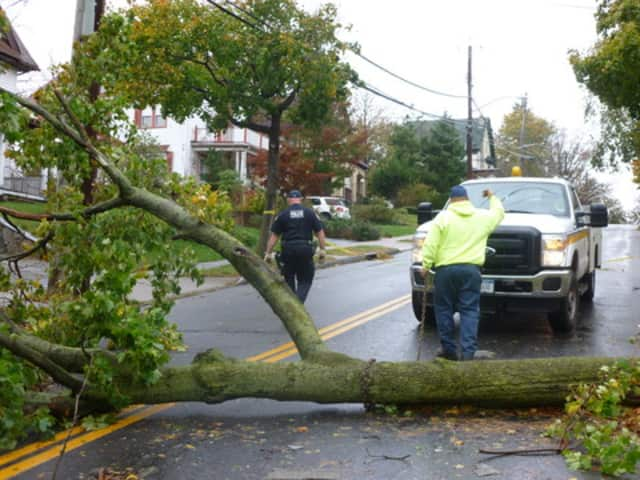 Three roads in Ridgefield were still closed Friday following the windstorm that ripped through the area leaving schools closed and many residents without power.