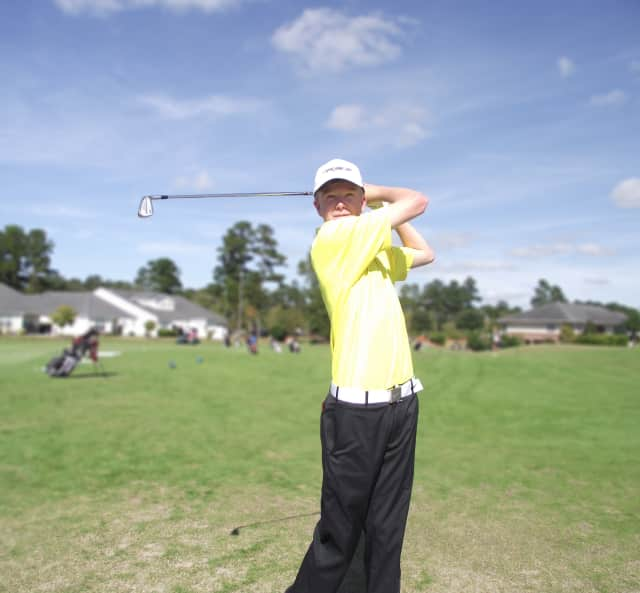 Lee Hammerschmidt, a 17-year old from Armonk, is learning the game at a golf academy in South Carolina.
