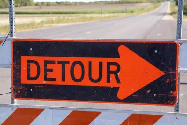 Sidewalk construction will affect traffic in Rye Brook starting Thursday.