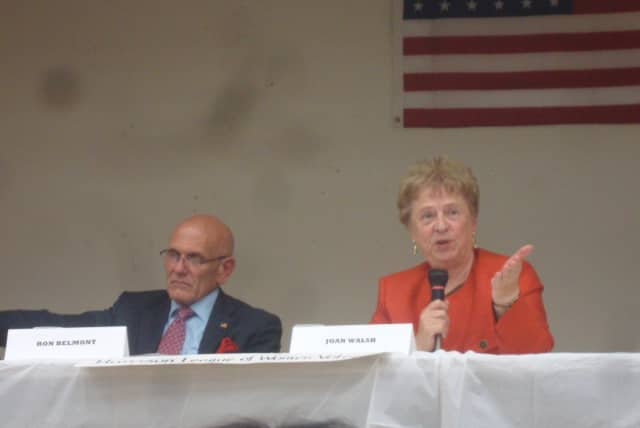 Harrison mayoral candidates Ron Belmont and Joan Walsh discuss issues such as revitalizing the downtown area and reducing the mayor's role.