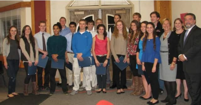 Eighteen Rye High School students recently were recognized for their academic excellence.