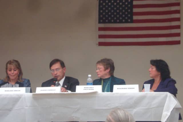 Candidates for the Harrison Town Board address how the town can control its spending.