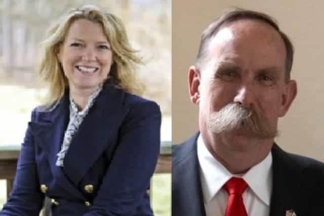 Democrat Ali Boak, left, and Republican Dick Lyman are the candidates for Pound Ridge supervisor.