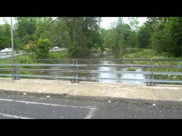 Road work began on flooded stretch of Saw Mill Parkway.