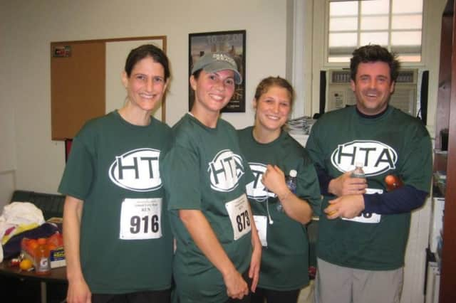 Members of the Hastings Teachers Association took part in the Terry Ryan Memorial Run.