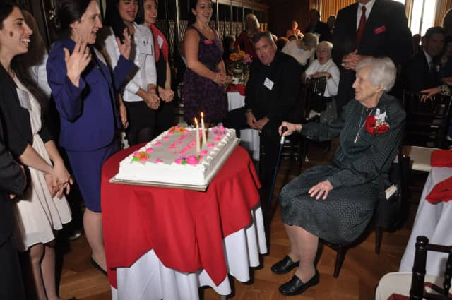 Manhattanville College celebrated a special 100th birthday party for Sister Mary T. Clark on Sunday.