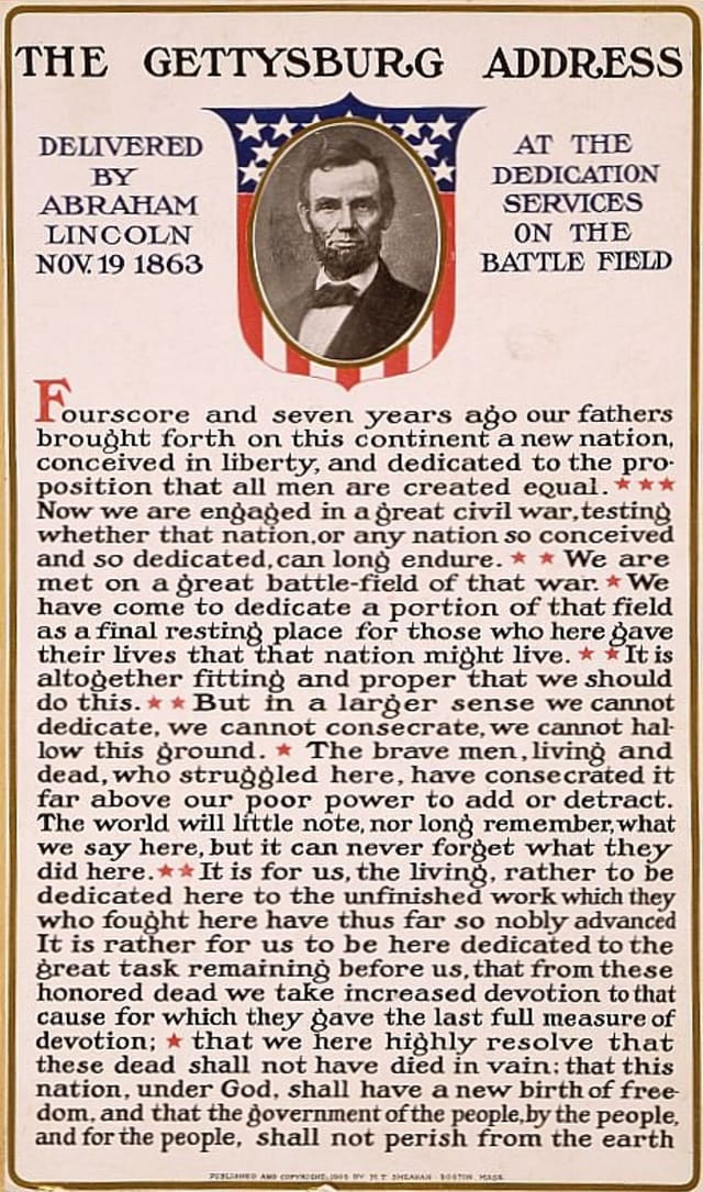 The Gettysburg Address will be the subject of a discussion Nov. 3 at the Harrison Public Library.