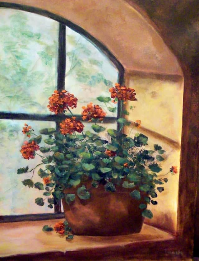 The Larchmont Public Library is hosting a special exhibition featuring two painters throughout November.