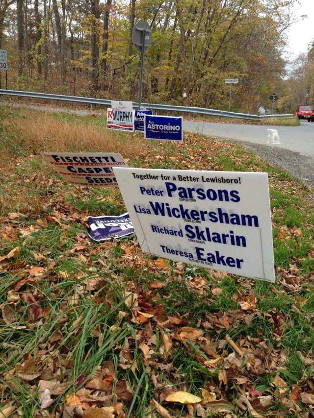 Campaign signs have been damaged and vandalized throughout Peekskill.