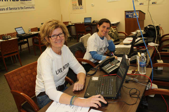 Volunteers for United Way of Westchester and Putnam's 2-1-1 helpline help field hundreds of calls daily.