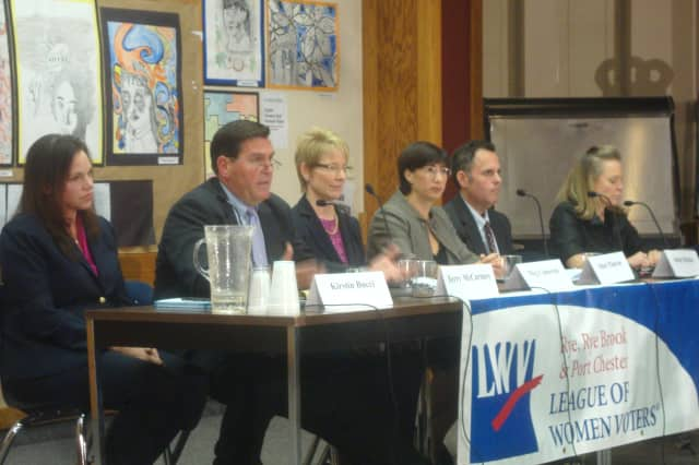Rye's candidates for City Council discuss matters such as keeping taxes low and civility at the League of Women Voters forum.
