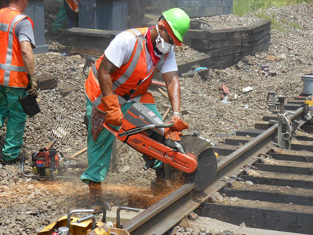 Repairs are being made to about six miles of railroad track used by the New Haven Line and Harlem Line.