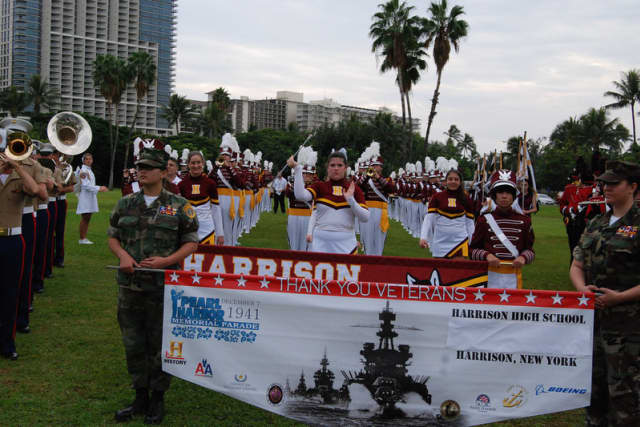 The Harrison High School Band will perform on Veteran's Day.