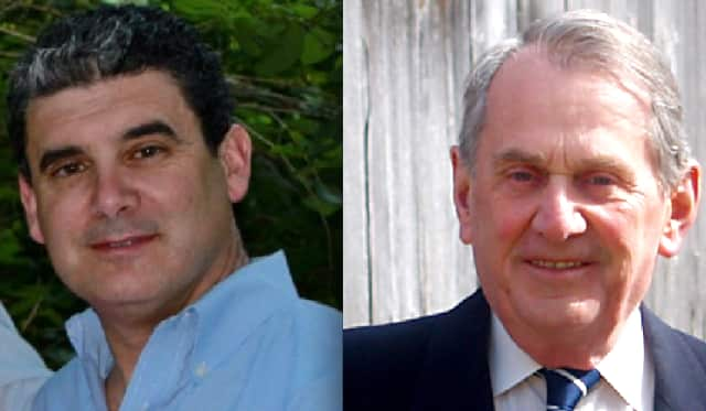 Peter Parsons, right, supervisor since 2011, leads challenger Tom Fischetti.
