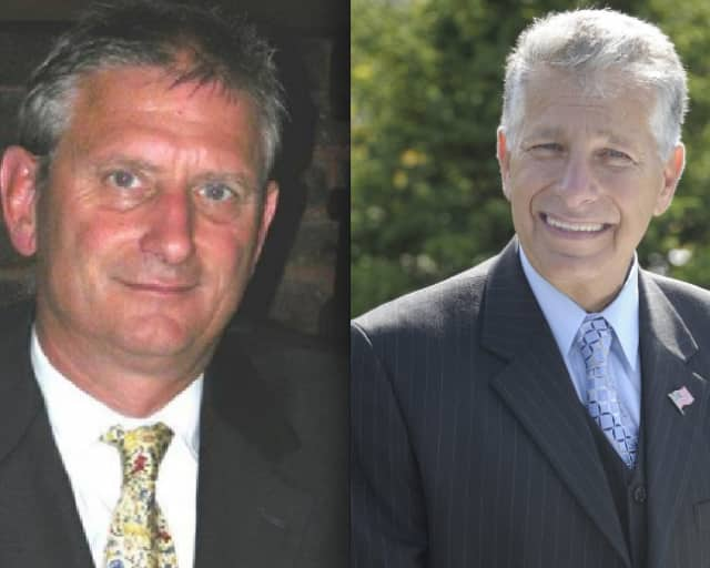 Michael Grace, left, is currently Yorktown Town Supervisor. Nick Bianco currently serves on the Town Board.