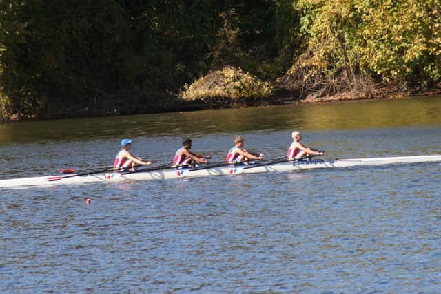 Pound Ridge rowers helped Norwalk River Rowing top the high school boys standings at the  Head of Schuylkill recently.