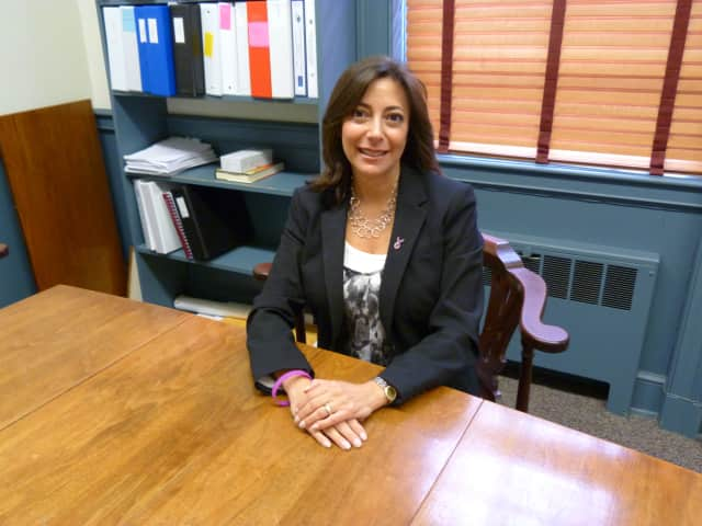 Gayle Weinstein ran unopposed for re-election this year for the role of Weston's First Selectman
