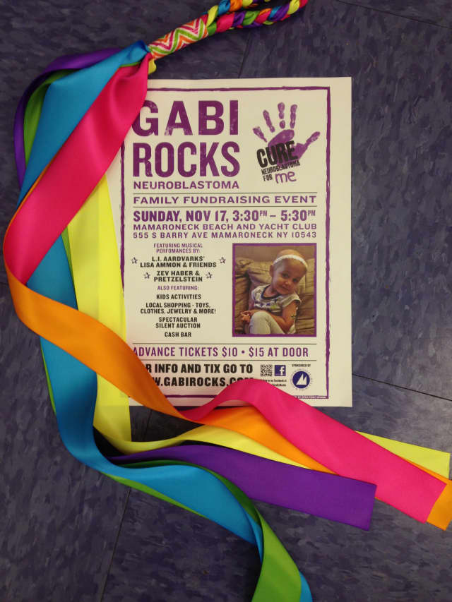 "Mamaroneck Beach and Yacht Club is sponsoring a fund-raiser called ""Gabi Rocks Neuroblastoma"" on Nov. 17."