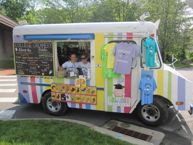 The Wilton-based College Creamery ice cream truck, run by Lindsay Wheeler, Steph Fricke and Taylor Toll, is up for sale.